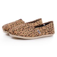 New Arrival Toms Women Shoes Leopard Color Gold Can Be A Nice Friend And Would Be A Member Of Your Family! #Shoes
