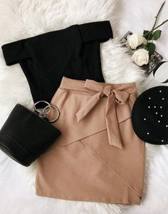 Albree nude, figure-hugging mini skirt # figure-hugging Albree nude bodycon mini skirt History of Knitting Wool spinning, weaving and . Teen Fashion Outfits, Girly Outfits, Classy Outfits, Look Fashion, Beautiful Outfits, Trendy Outfits, Fall Outfits, Cute Outfits, Beautiful Beautiful
