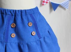 retro blue skirt от PopelineCo на Etsy, €46.24