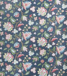 8''x8'' Home Decor Fabric Swatch-Eaton Square Bearings Blueberry