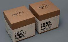 Packaging, Label Design and Branding by Tom Clayton for Argo Café's Tea Range