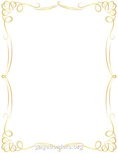 Printable golden border. Use the border in Microsoft Word or other programs for creating flyers, invitations, and other printables. Free GIF, JPG, PDF, and PNG downloads at http://pageborders.org/download/golden-border/