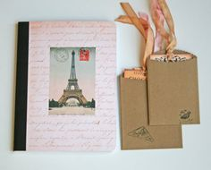 Paris journal travel notebook altered composition by Tesorobella