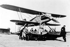 Heinkel He 51 B auf Schwimmern
