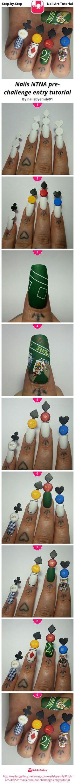 Nails NTNA pre-challenge entry tutorial - Nail Art Gallery Step-by-Step Tutorial Photos