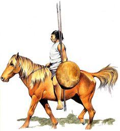 Numidian light cavalryman, third century BC.