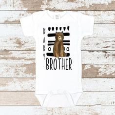 This Baby Brother Tribal take home bodysuit is professionally applied with black flock vinyl. Newborn Outfits, Boy Outfits, Boy Or Girl, Baby Boy, Getting Ready For Baby, Take Home Outfit, White Bodysuit, Baby Supplies, Future Baby