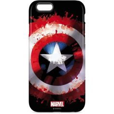 Captain America Shield Captain America iPhone 6 Case | Skinit ($35) ❤ liked on Polyvore featuring accessories, tech accessories, phone cases, phones, cases and electronics