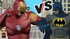 Batman Vs Iron Man Cartoons | SuperHeroes  Finger Family Nursery Rhymes ...