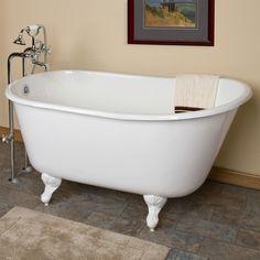 small acrylic clawfoot tub. 53  Carine Cast Iron Swedish Slipper Clawfoot Tub Bathroom 43 Carter Mini Acrylic Bathtubs Tubs And Acrylics