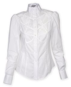 Mrs. Jones Lattice Yoke Blouse $205.85 AT vintagedancer.com