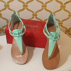 Guess Sandals Mint Green Guess Shoes Sandals
