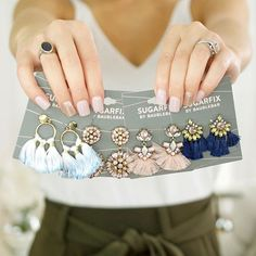 A new blogpost is on hashtagfablife.com and linked in my bio all about the new @sugarfix @baublebar collection at @targetstyle All of these earrings or under $15 all linked in my blogpost #baublebar #sugarfix #mysugarfix #