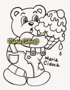 Riscos graciosos (Cute Drawings): Riscos de ursinhos e pandas (Bears, teddy bears an...
