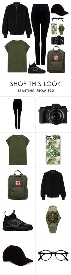 """green army x black"" by mmaulidyaa on Polyvore featuring Citizens of Humanity, We Are Replay, Balmain, Casetify, Fjällräven, adidas, NIKE and d1 Milano"