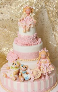 CAKE ART! ~ Fondant Girly baby Shower Doll Cake~ all hand molded and edible