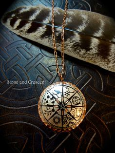 Wheel of the Year Necklace by stoneandcrescent on Etsy, $24.99