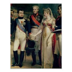 Napoleon Bonaparte Receiving Queen Louisa of Prussia at Tilsit, July 1837 (oil on canvas) by Gosse, Nicolas Louis Francois info.: wife of Frederick William III Napoleon I recoit la reine Louise de Prusse French History, European History, World History, Art History, Asian History, Tudor History, British History, History Facts, Empress Josephine