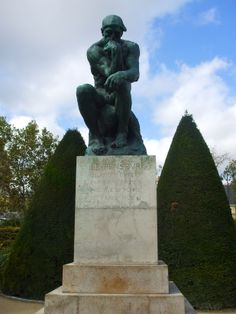 """Rodin's famous """"Le Penseur"""" (The Thinker). Less well known is that this figure was initially part of the sculptor's dark """"La Porte de l'Enfer"""" (The Gates of Hell)."""