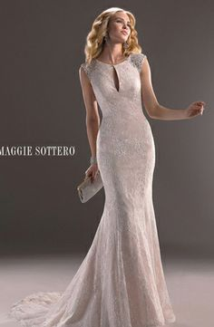 Maggie Sottero - Jewel Sheath Gown in Lace