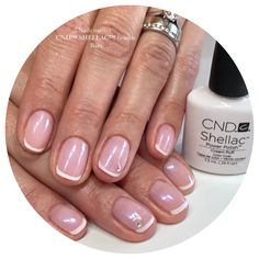 French Manicure Nails, Shellac Nails, Nail Polish, Beauty, Nail Polishes, Polish, Beauty Illustration, Manicure, Shellac