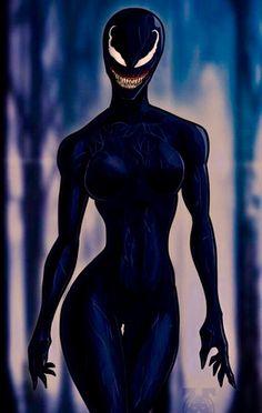 Female Venom Marvel Venom, Marvel Art, Marvel Heroes, Marvel Girls, Comics Girls, Marvel Characters, Female Characters, Chica Alien, Spiderman Kunst