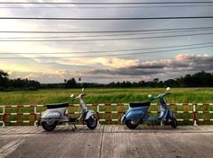 Sunset. Vespa 90  #Thailand