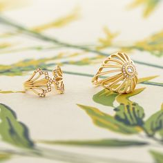 Handmade Fine Jewellery Inspired By The Colour And Pattern Of India Feather Ring, Diamond Jewelry, Flora, Fine Jewelry, Jewelry Design, Stud Earrings, Jewels, Pattern, Handmade