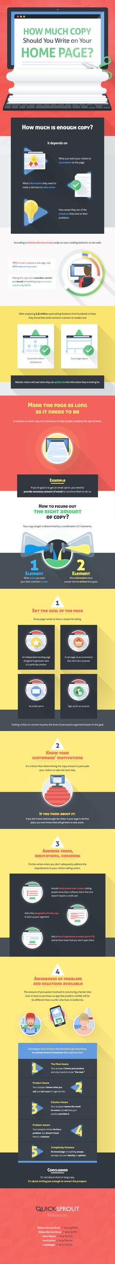 How Much Copy Should You Write on Your Home page? #infographic