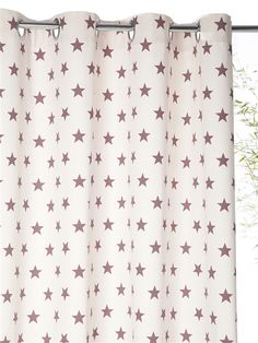 RIDEAU IMPRIMÉ EN COTON AVEC OEILLETS ETOILES ROSE pour chambre Carolann ? Love Stars, Stars And Moon, Baby Deco, Star Wars, Twinkle Star, Reaching For The Stars, Little Star, Kids Room, Curtains