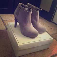 Bcbg Maxazria suede Booties Beautiful boots. Wore once. Cleaning out my closet. BCBGMaxAzria Shoes Ankle Boots & Booties