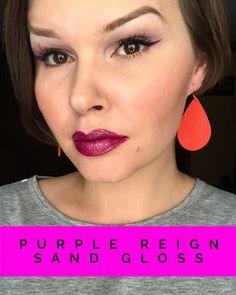 Purple Reign Lipsense with Sand Gloss