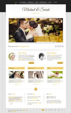 Responsive design for wedding events.