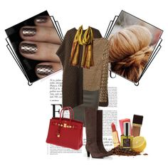 love brown with red Thalia, Polyvore Fashion, Fashion Sets, My Style, Brown, Crushes, Red, Stuff To Buy, Beauty