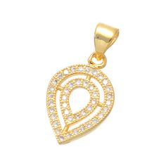 Copper Jewelry Micro Pave Zircon Water droplets Pendant Charms For Jewelry Making Diy Craft Bijoux Jewelry Findings #Affiliate
