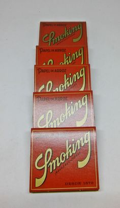 Smoking Brand Papel de Arroz 1 1/4 Cigarette Rolling Papers- Lot of 5 Packs