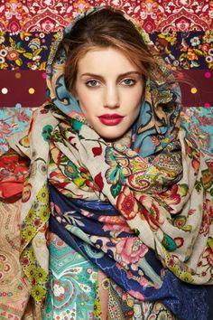Russian beauty. Russian girls. Traditional floral pattern. Russian.