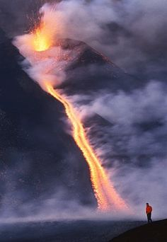 awesome Mt. Etna, Sicily. Since 1500 BC Etna has erupted 200 times, and in 2001, it erup...