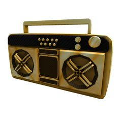 Golden Super Fly Boombox - ROBLOX