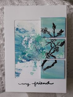 Fasters korthus: CAS - acrylic card