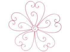 Large Hot Pink Flower Metal Wall Decor