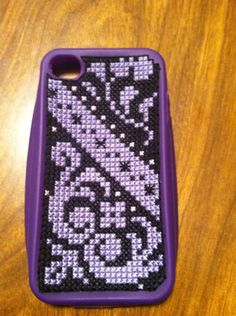 counted cross stitch phone cover /Kit bought at @Jo-Ann Fabric & Craft Stores distributed by Coats and Clark