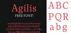 Agilis Font 100 Greatest Free Fonts Collection for 2013 - Awwwards - typefaces, webfonts, free fonts