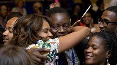 A Michelle Obama hug is on my bucket list.