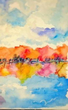 水彩画    Watercolor painting