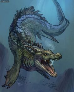 Tompondrano - Appearing as a colossal aquatic crocodile-like dragon that was originally mistaken for the legendary Leviathan, this powerful Madagascan deity has the ability to control the flora and fauna in its local area. There are stories that are passed around isolated villages about children being kidnapped by monstrous serpents before praying to this deity in order to be rescued.