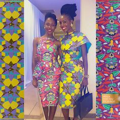 CONNOISSEURS OF STYLE | These true experts of style Alinafe and Constance Mensah Nhyira shine in their Voilà for you, by Vlisco dresses. No wonder because they are the Ghanaian Vlisco Fashion Fund winners from this year and last year!