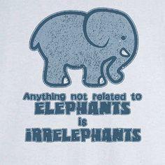 Elephants and Irrelephants Funny Novelty T Shirt