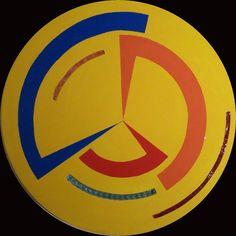 SPICCHI IN ROTAZIONE - d. 82 cm, legno, vetro, resina, acrilico (wood, resin, glass, acrylic), 2008