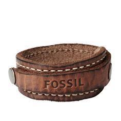 FOSSIL® Accessories Jewelry:Men Cuff Bracelet - Brown JA5923